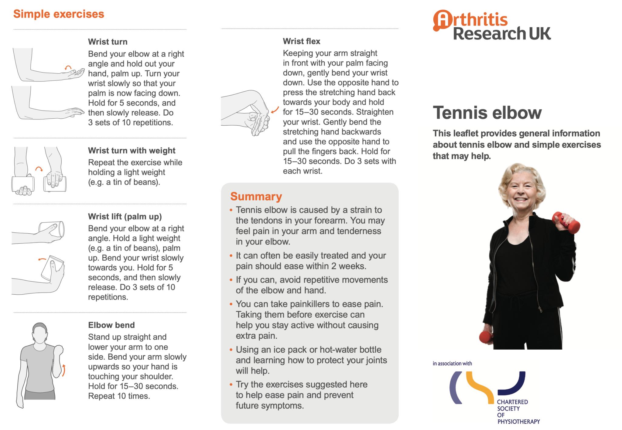 Tennis Elbow Exercises goPhysio