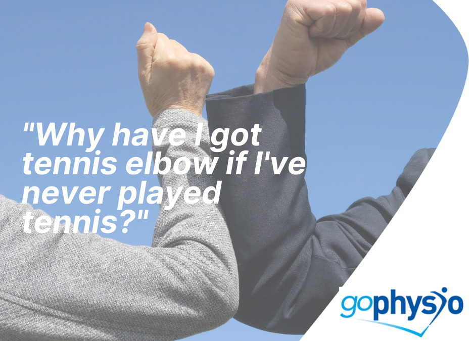 Why do I have tennis elbow I've never played tennis?