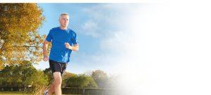 stock image of runner