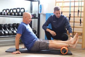 gophysio rehab exercise with foam roller eastleigh