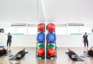 Pilates group Eastleigh with exercise balls