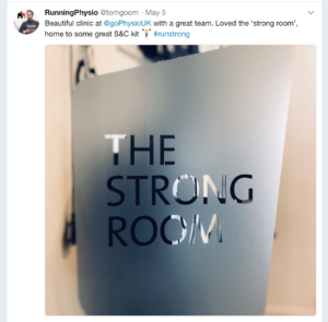 Gophysio review strong room