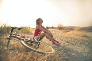 stock sunny cyclist