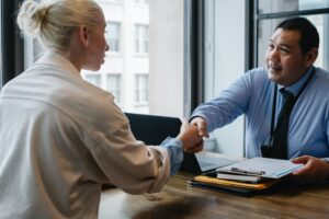 stock image shaking hands