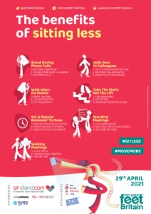 Benefit to sit less -active working