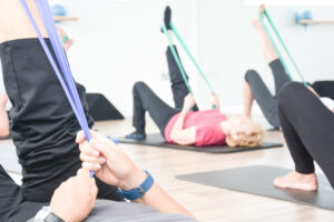 Pilates class with resistance bands Eastleigh