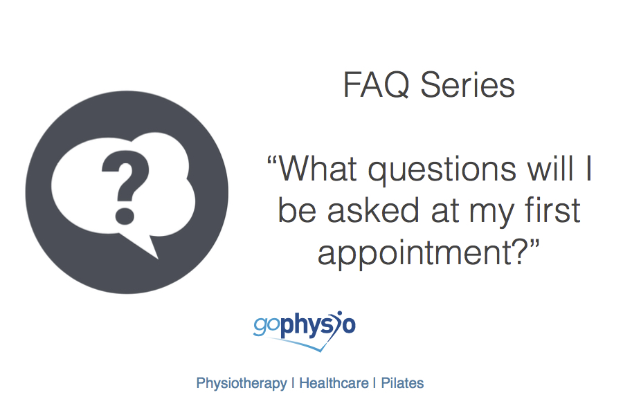 goPhysio FAQs: What questions will I be asked?