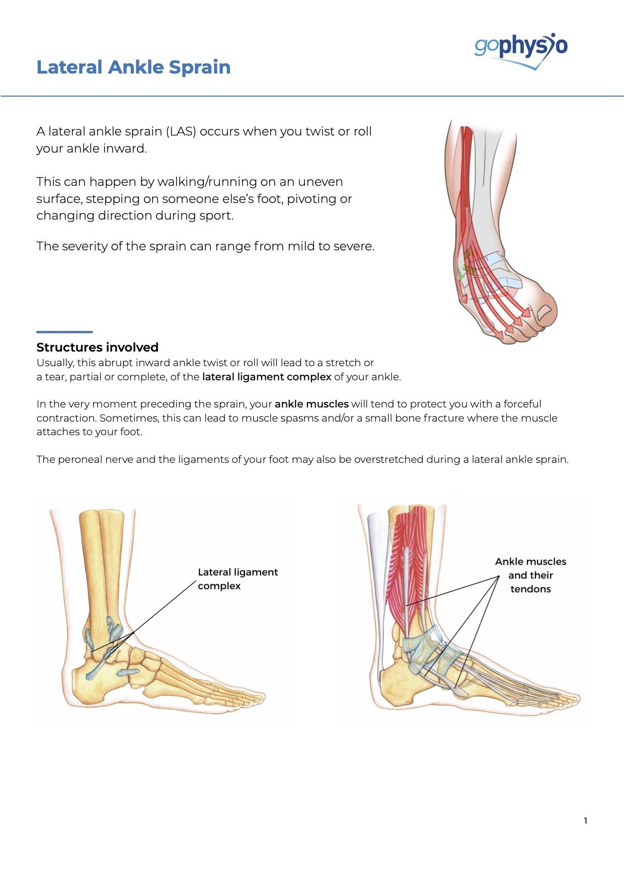 Lateral ankle sprain treatment goPhysio