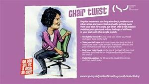 chair twist  desk exercises active working