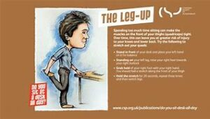 the leg up  desk exercises active working