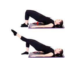 shoulder bridge pilates