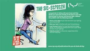 sit stretch desk exercises active working