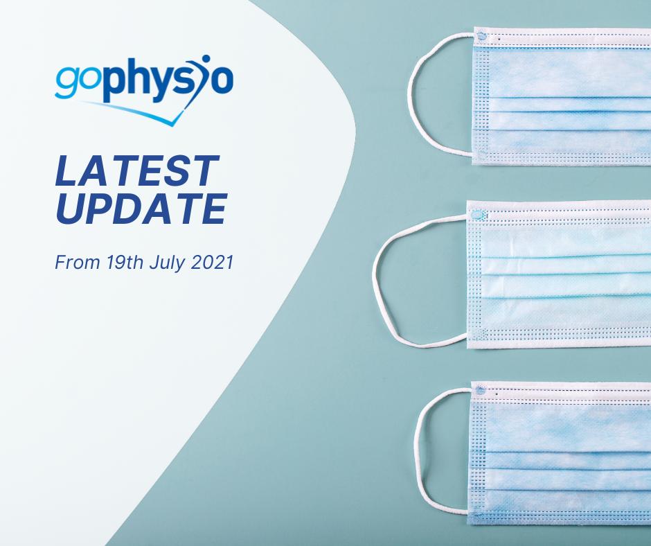 19th July COVID Update goPhysio